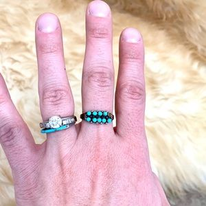 Sterling Silver Turquoise stone ring size 8